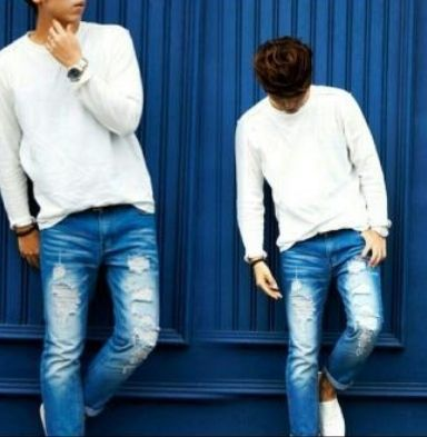 Joggers Denim Street Style Joggers Jeans 3