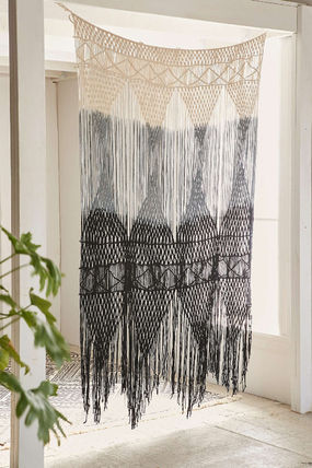 Urban Outfitters Ethnic Stripes Fringes Curtains