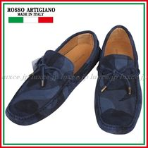 ROSSO ARTIGIANO Camouflage Driving Shoes Leather Loafers & Slip-ons