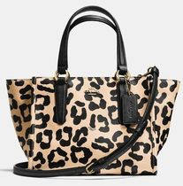 Coach CROSBY Leopard Patterns 2WAY Leather Shoulder Bags