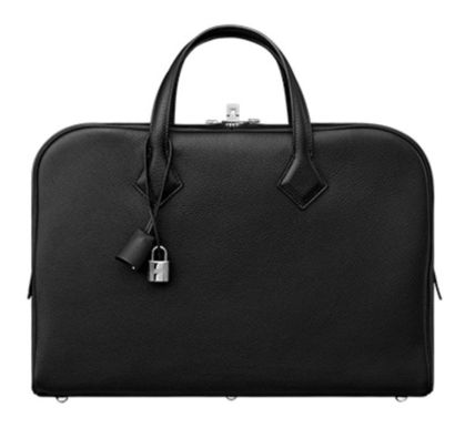 HERMES Victoria Calfskin Plain Business & Briefcases