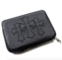 CHROME HEARTS CH PLUS Street Style Plain Leather Folding Wallets
