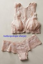 Anthropologie Nylon Plain Lingerie Sets