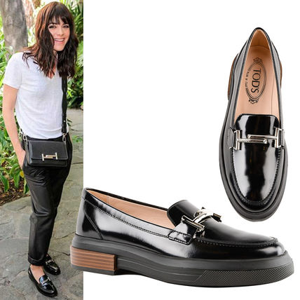 3fdbc2036c3 ... TOD S Loafer Round Toe Plain Leather Office Style Loafer Pumps ...