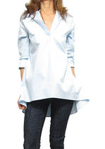 Cropped Plain Cotton Shirts & Blouses