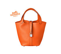 HERMES Picotin Vanity Bags Leather Totes