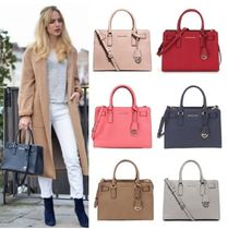 Michael Kors Saffiano 2WAY Plain Office Style Handbags