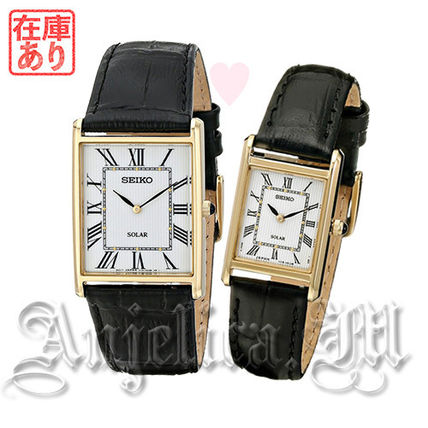 Leather Square Quartz Watches Office Style Analog Watches
