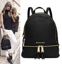 Michael Kors Casual Style Plain Leather Backpacks