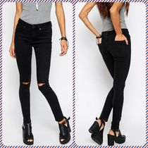 ASOS Street Style Plain Cotton Long Skinny Jeans