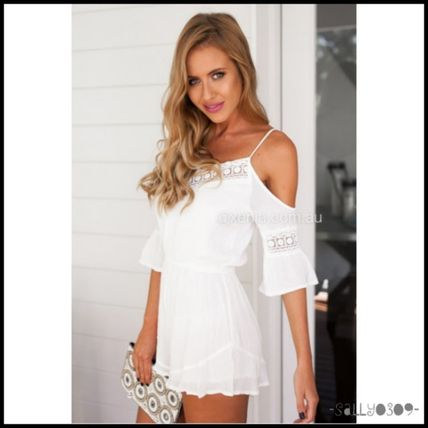 XENIA boutique Off-shoulder overalls