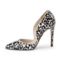 SUECOMMA BONNIE Leopard Patterns Plain Toe Street Style
