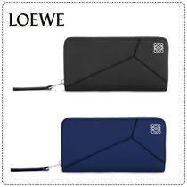 LOEWE Unisex Calfskin Plain Long Wallets