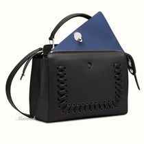FENDI DOTCOM DotCom Handbag With Eyelet & Miro-Weave / Black