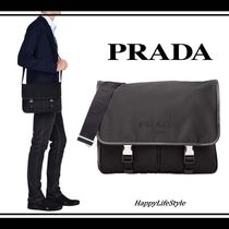 PRADA Nylon A4 Plain Messenger & Shoulder Bags