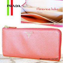 PRADA SAFFIANO LUX Saffiano Bi-color Long Wallets