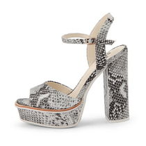 SUECOMMA BONNIE Argile Open Toe Platform Street Style Other Animal Patterns