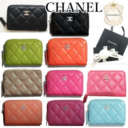 CHANEL MATELASSE Lambskin Long Wallets