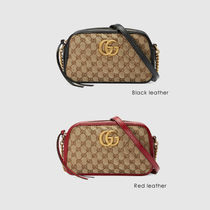GUCCI GG Marmont Monogram Casual Style Canvas Blended Fabrics 2WAY Chain