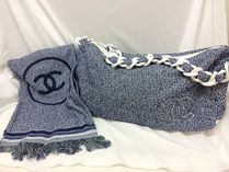 CHANEL SPORTS Canvas A4 Plain Office Style Totes