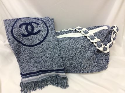 CHANEL Totes Canvas A4 Plain Office Style Totes