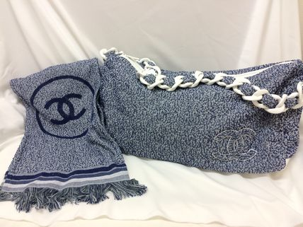 CHANEL Totes Canvas A4 Plain Office Style Totes 2