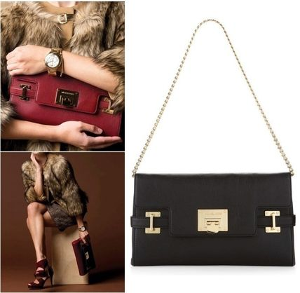 Super leather large price Michael Kors leather 2-way clutch