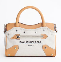 BALENCIAGA CITY Balenciaga Mini City Belharra canvas and leather bag