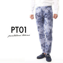 PT01 Glen Patterns Tropical Patterns Cotton Cropped Pants