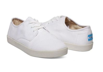 TOMS White Canvas Men's Paseo Sneakers