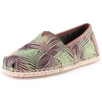 TOMS Tropical Patterns Faux Fur Loafers & Slip-ons