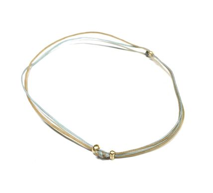 Vacance / Resort 18K Gold Beads on 2 Color Cord Anklet