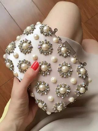 Clutches of Pearl chain with 2-way party wedding