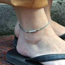 Unisex Silver Anklets