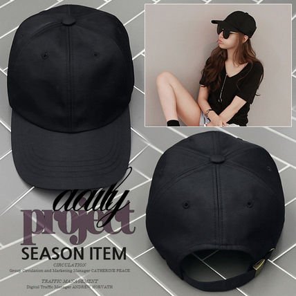 Hat cap plain simple cap black daily. 274700529