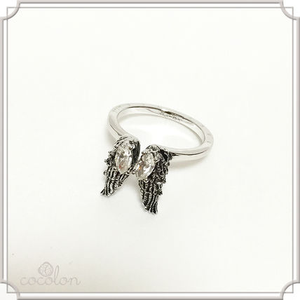 LUCIEN Unisex Party Style Platinum Brass Rings