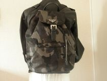 PRADA CANAPA Camouflage Unisex Nylon Backpacks