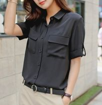 Short Sleeves Office Style Shirts & Blouses