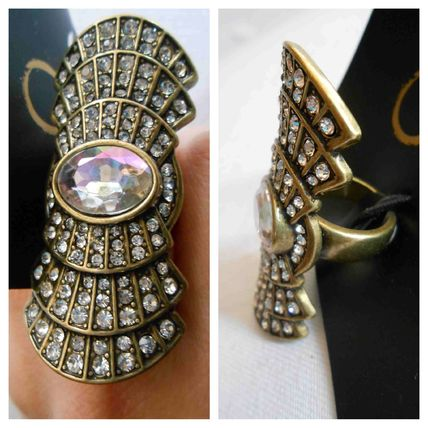 Costume Jewelry Party Style Brass With Jewels Rings