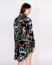 LAZY OAF Tropical Patterns Street Style Long Sleeves Medium