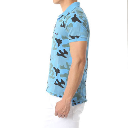 Pullovers Camouflage Cotton Short Sleeves T-Shirts