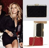 Michael Kors 2WAY Chain Plain Leather Party Style Python Clutches