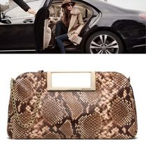 Michael Kors 2WAY Chain Leather Party Style Python Clutches