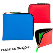 COMME des GARCONS Tropical Patterns Bi-color Leather Folding Wallets