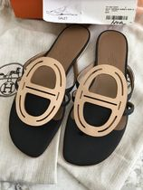 HERMES Casual Style Leather Sandals Sandals
