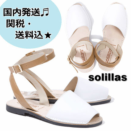 Open Toe Casual Style Plain Leather Handmade Sandals