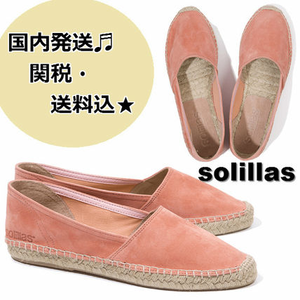 Casual Style Suede Street Style Plain Flats