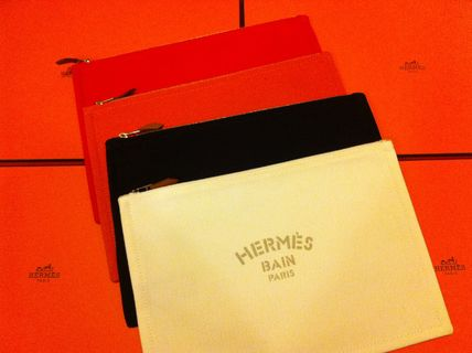 HERMES Yachting Unisex Canvas Clutches