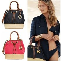 Michael Kors Casual Style Canvas 2WAY Bi-color Plain Purses Totes