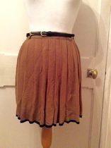 Primark Short Pleated Skirts Bi-color Plain Elegant Style Skirts